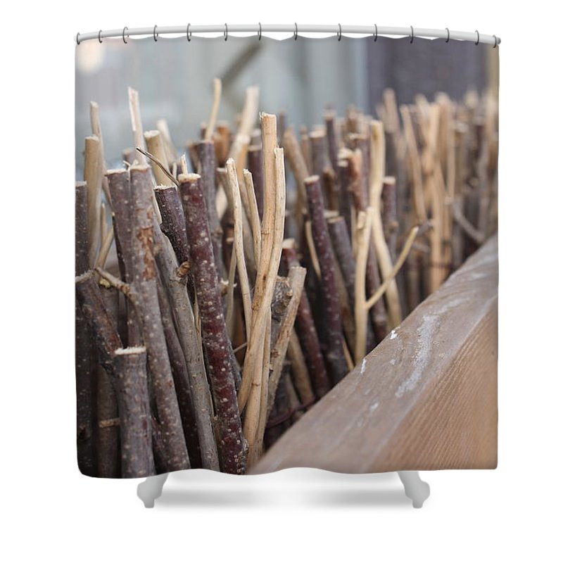 Sticks Shower Curtain featuring the photograph Five, Six Pick Up Sticks by Wade Milne