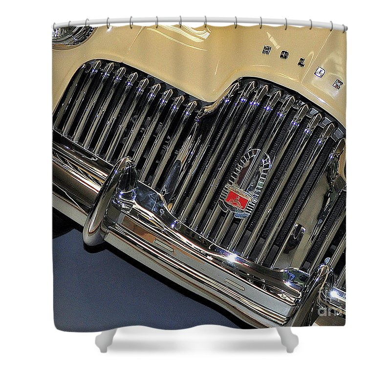 Photography Shower Curtain featuring the photograph Fj Holden - Front End - Grill by Kaye Menner