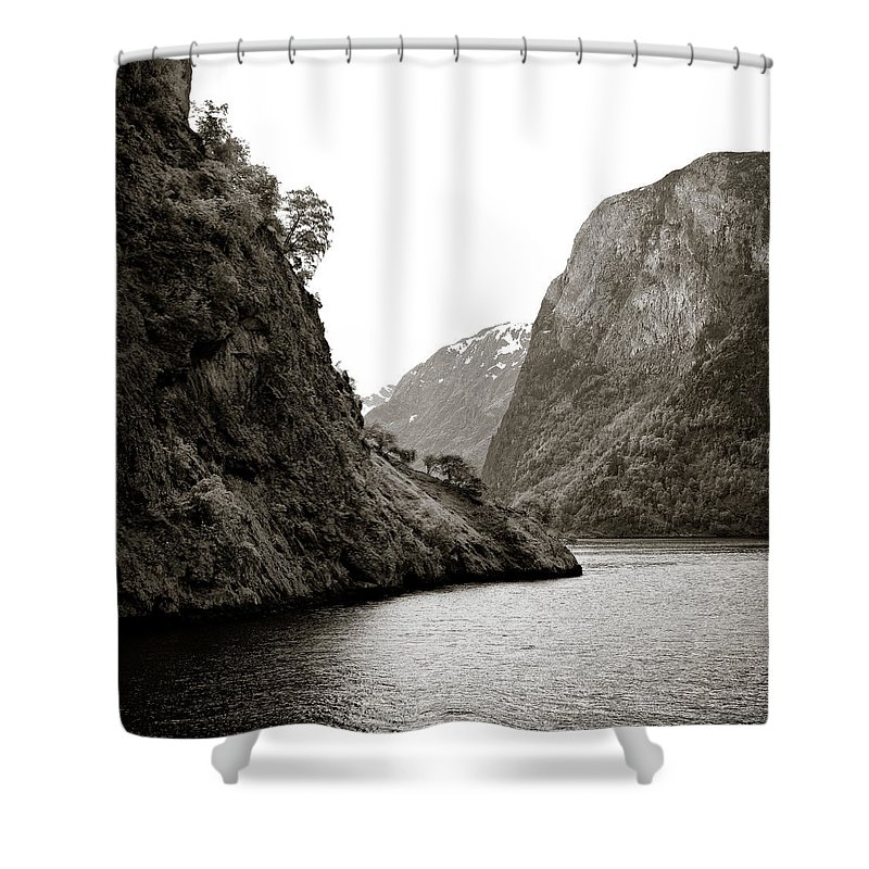Norway Shower Curtain featuring the photograph Fjord Beauty by Dave Bowman