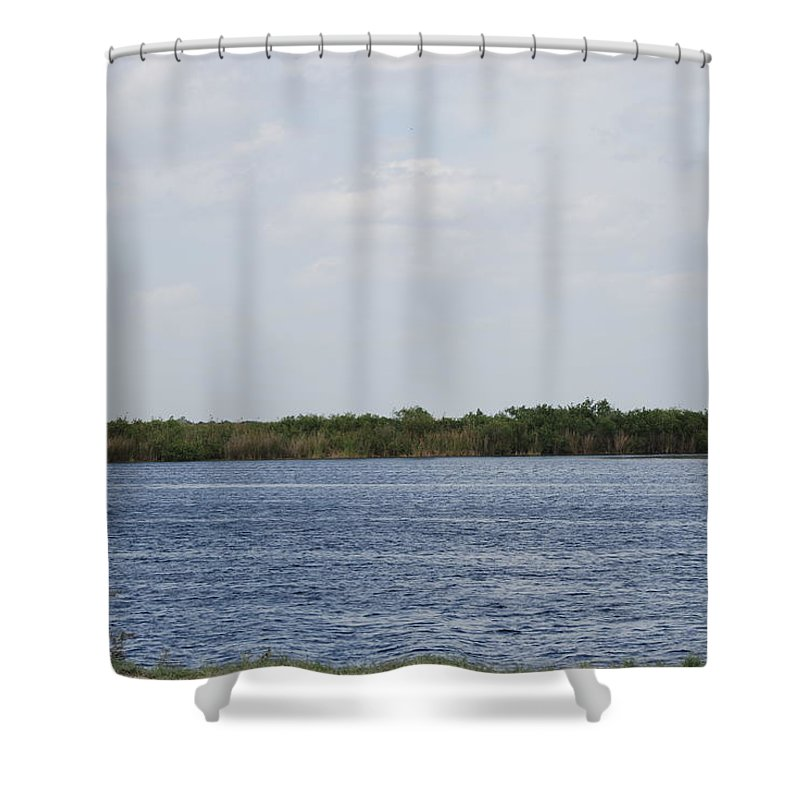 Water Shower Curtain featuring the photograph Fla Everglades by Rob Hans