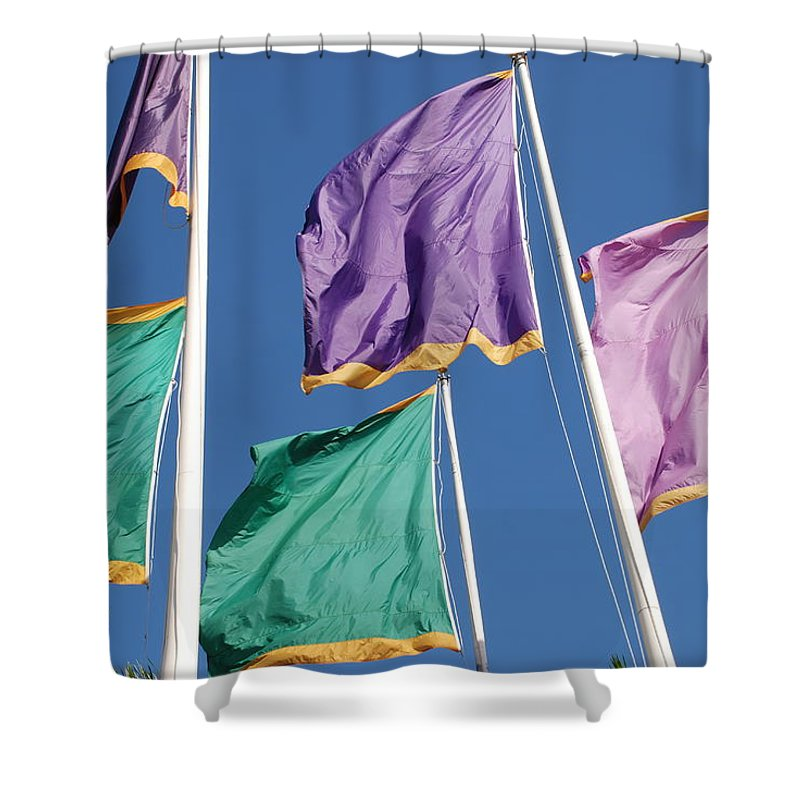 Flags Shower Curtain featuring the photograph Flags by Rob Hans