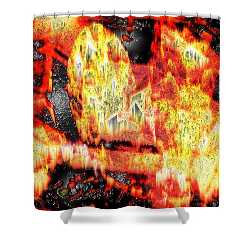 Abstract Shower Curtain featuring the photograph Flame Gems by Seth Weaver