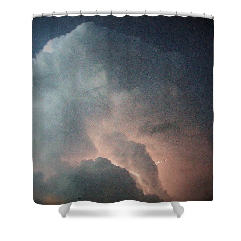 Lightening Shower Curtain featuring the photograph Flash Bulb by Forrest Shaw