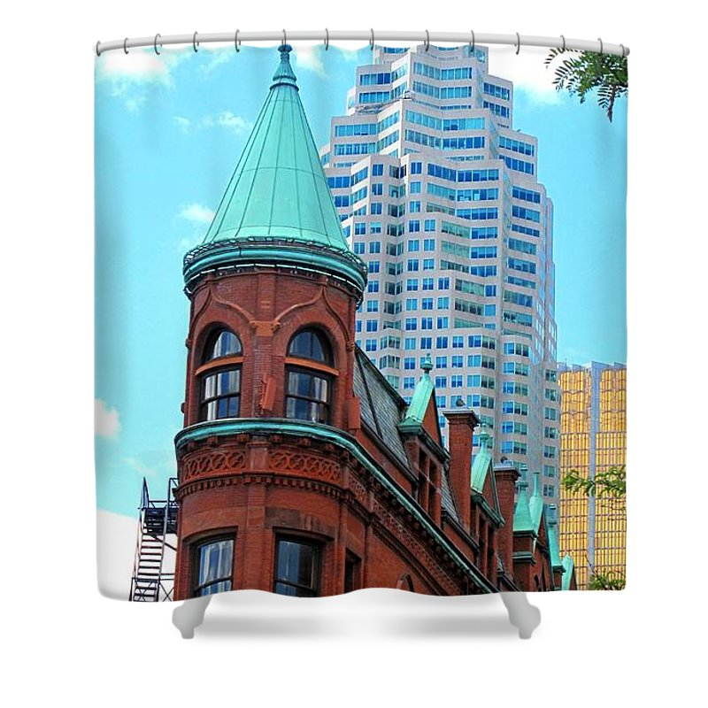 Flat Iron Building Shower Curtain featuring the photograph Flat Iron Building by Ian MacDonald