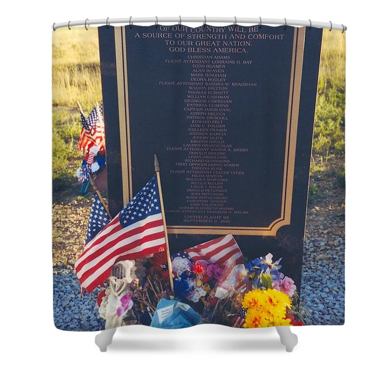 Flight 93 Heros Shower Curtain featuring the photograph Flight 93 Heros by Penny Neimiller