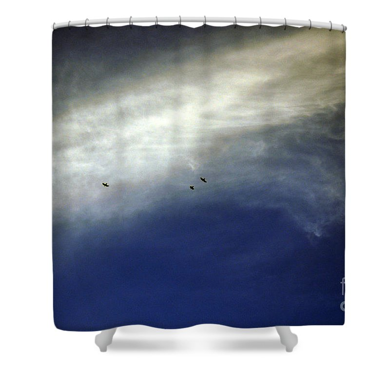 Clay Shower Curtain featuring the photograph Flight by Clayton Bruster