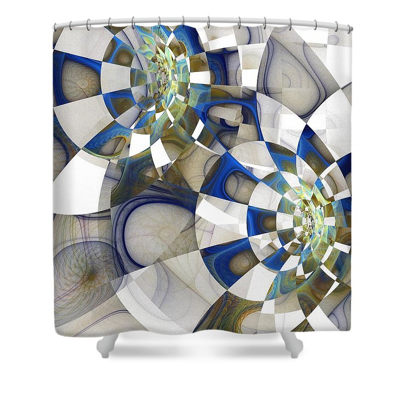 Digital Art Shower Curtain featuring the digital art Flight by Amanda Moore