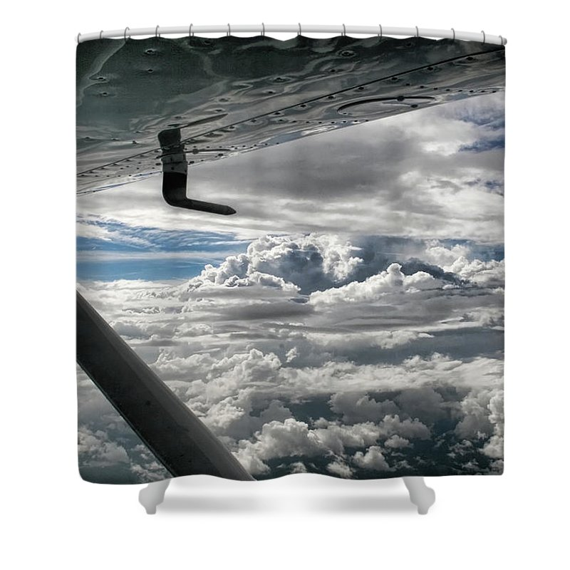 Cessna Shower Curtain featuring the photograph Flight Of Dreams by Patricia Montgomery