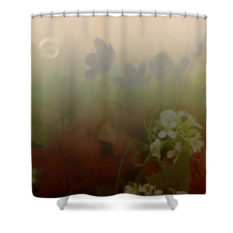 Bubble Shower Curtain featuring the photograph Floating Bubble by Scott Wyatt