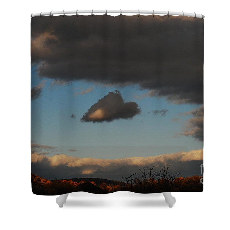 Heart Shower Curtain featuring the photograph Floating Heart by Lori Tambakis
