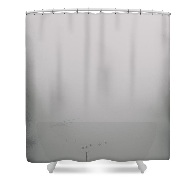 Columbia River Slough Shower Curtain featuring the photograph Floating In Serenity by Kunal Mehra