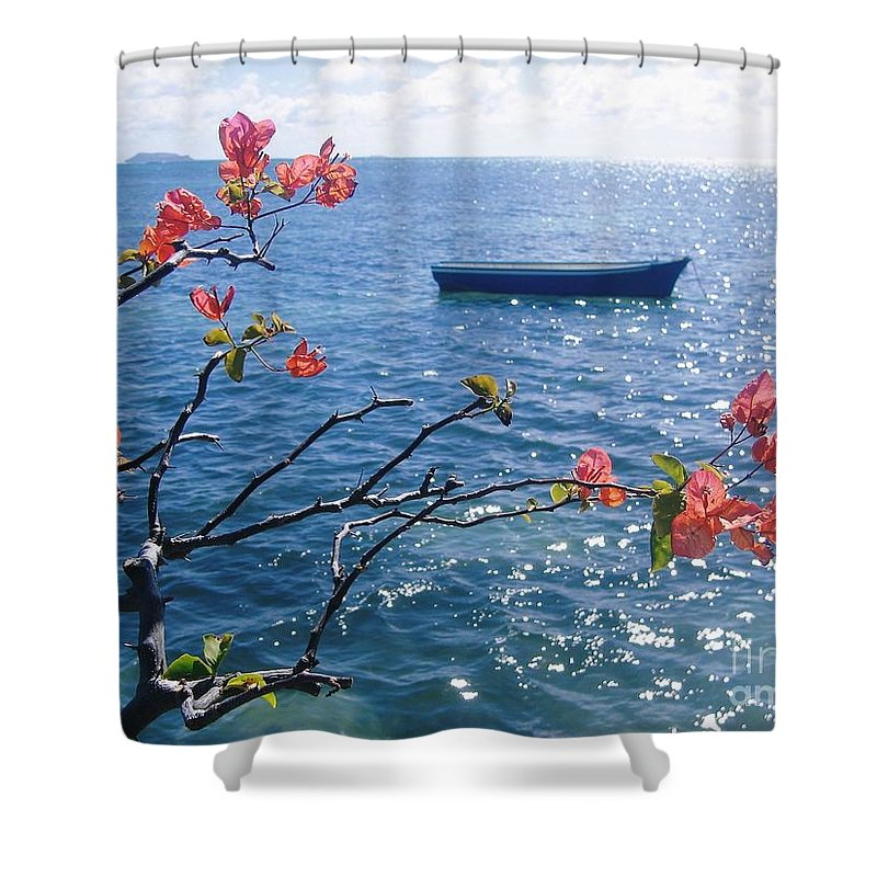 Seascape Shower Curtain featuring the photograph Floating Tranquility by Jackie Tweddle