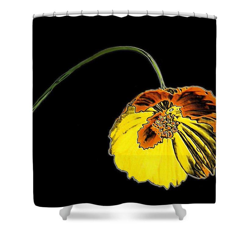 Flower Shower Curtain featuring the digital art Flora by Kristin Elmquist