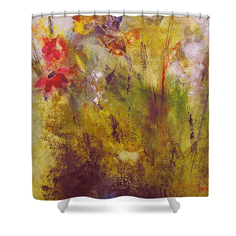 Botanical Shower Curtain featuring the painting Flora by Ruth Palmer