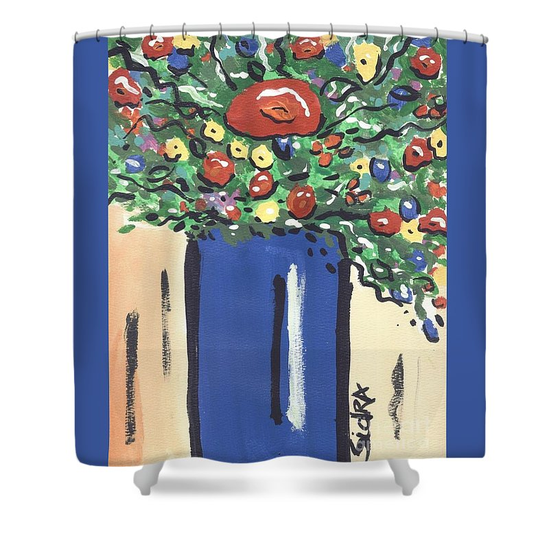 Floral Shower Curtain featuring the painting Floral 280 by Sidra Myers