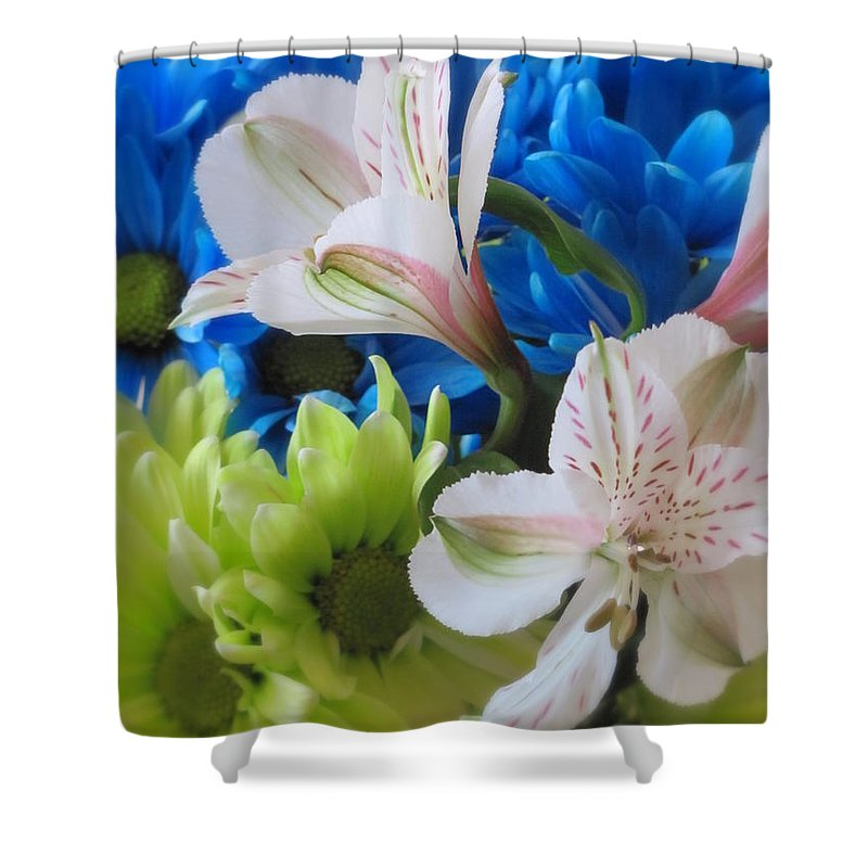 Flowers Shower Curtain featuring the photograph Floral Bouquet 1 by Anita Burgermeister