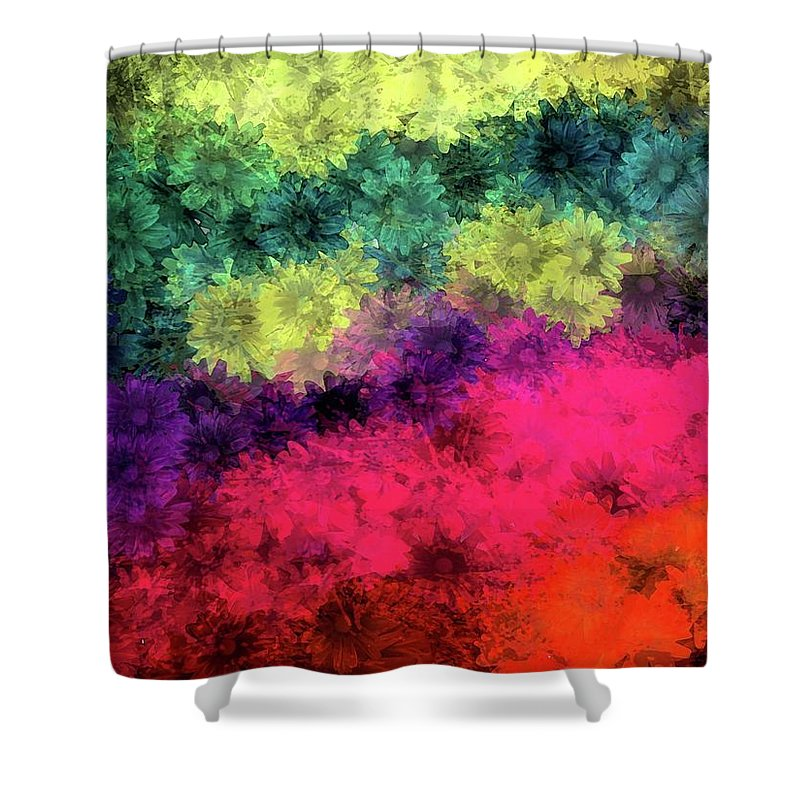Flowers Shower Curtain featuring the painting Floral Decay by Jamie Holbrook