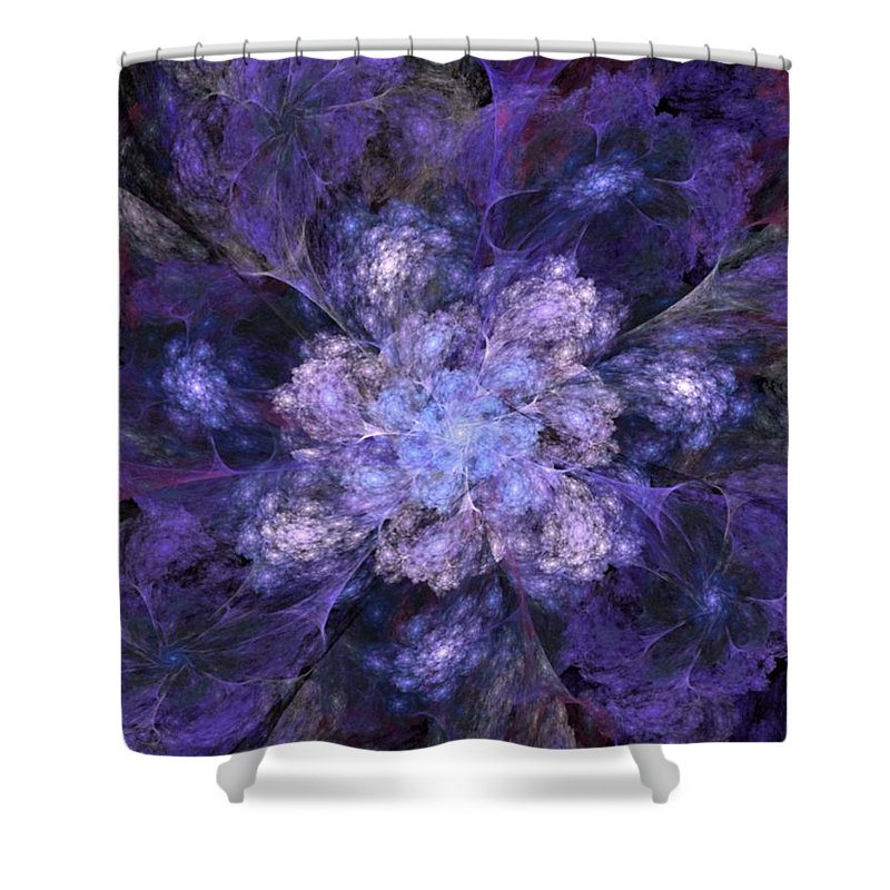 Digital Painting Shower Curtain featuring the digital art Floral Fantasy 1 by David Lane
