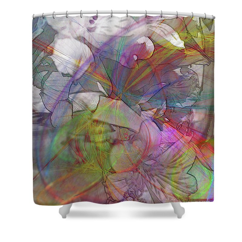 Floral Fantasy Shower Curtain featuring the digital art Floral Fantasy by John Beck