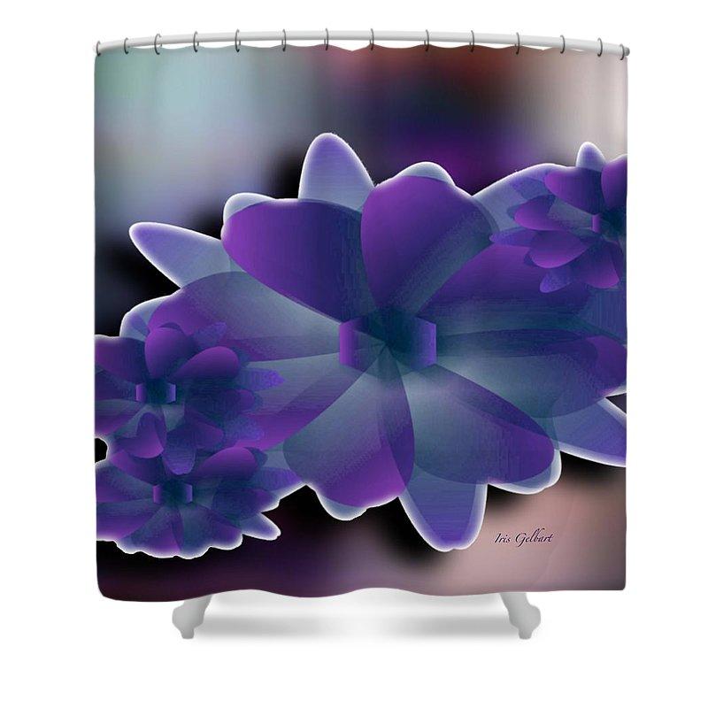 Flowers Shower Curtain featuring the digital art Floral Grace by Iris Gelbart