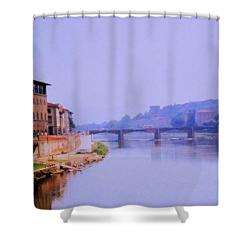 Florence Shower Curtain featuring the photograph Florence by Ian MacDonald