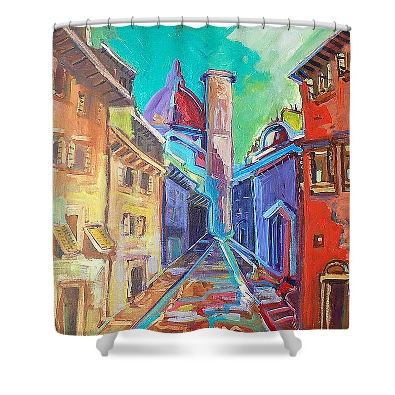 City Shower Curtain featuring the painting Florence by Kurt Hausmann