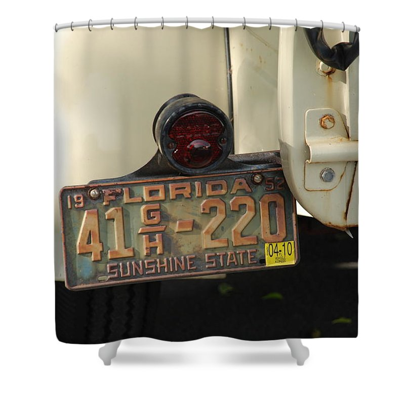 Truck Shower Curtain featuring the photograph Florida Dodge by Rob Hans