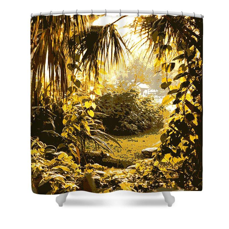 Sunlight Shower Curtain featuring the photograph Florida Dream by Carol Groenen