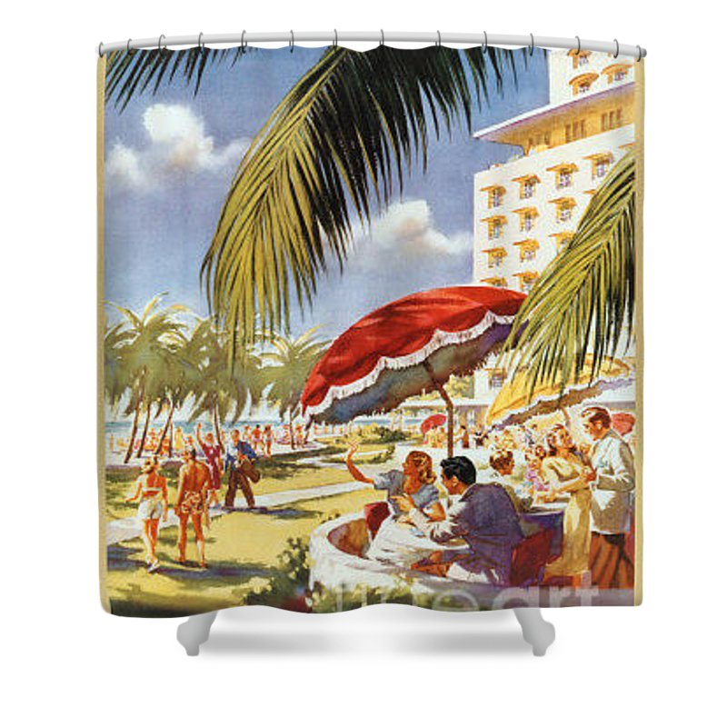 Vintage Shower Curtain featuring the painting Florida-pennsylvania Railroad by Nostalgic Prints
