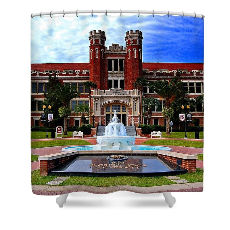 Florida Shower Curtain Featuring The Photograph State University Westcott Building By Movie Poster Prints
