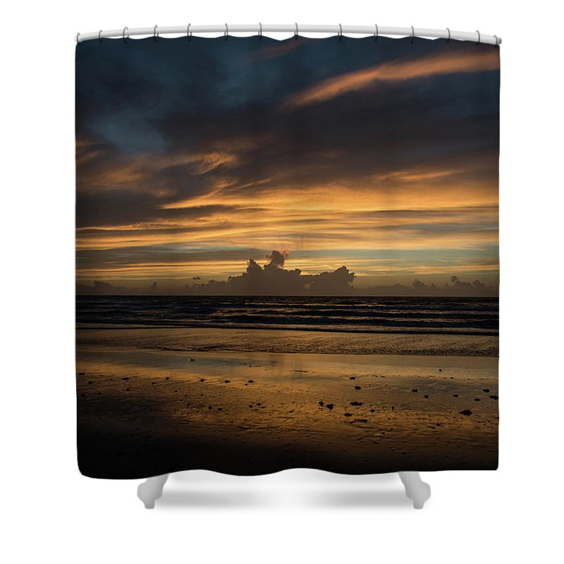 Florida Shower Curtain featuring the photograph Atlantic Sunrise by Todd Carriveau