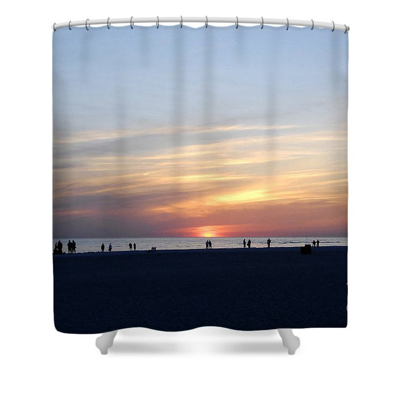 Florida Shower Curtain featuring the photograph Florida Sunset by David Lee Thompson
