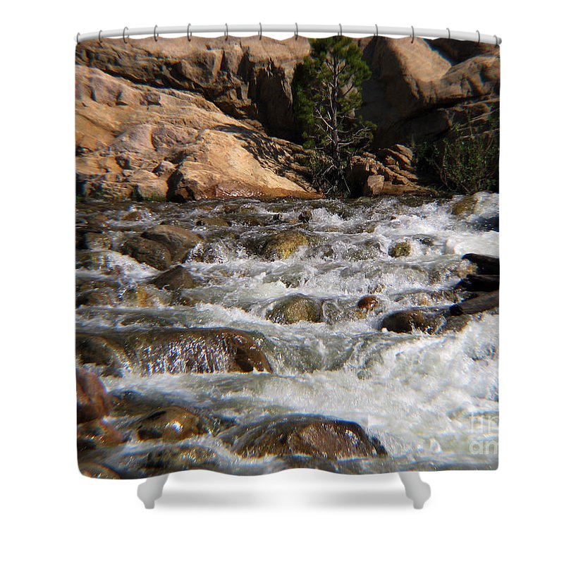 River Shower Curtain featuring the photograph Flow by Amanda Barcon