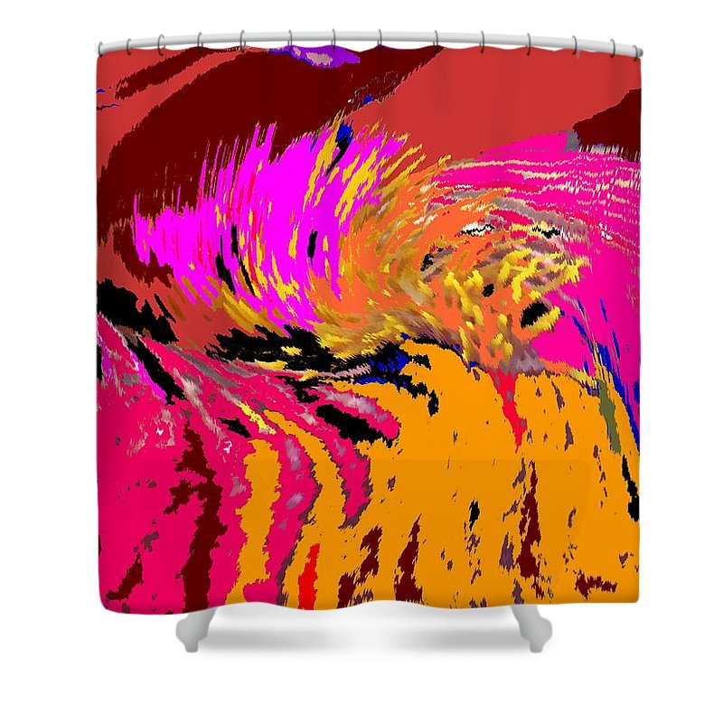 Abstract Shower Curtain featuring the digital art Flow by Ian MacDonald
