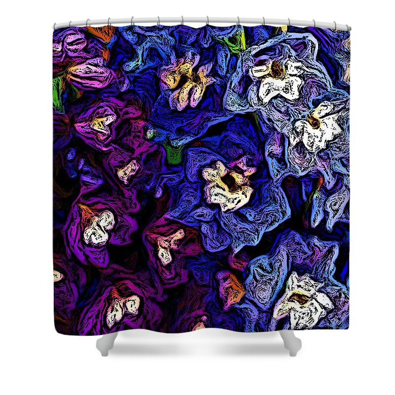 Digital Photo Shower Curtain featuring the photograph Flower Arrangement II by David Lane