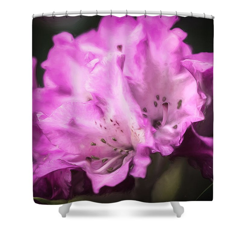 Rhododendron Shower Curtain featuring the photograph Flower Beauty by Lisa Bell
