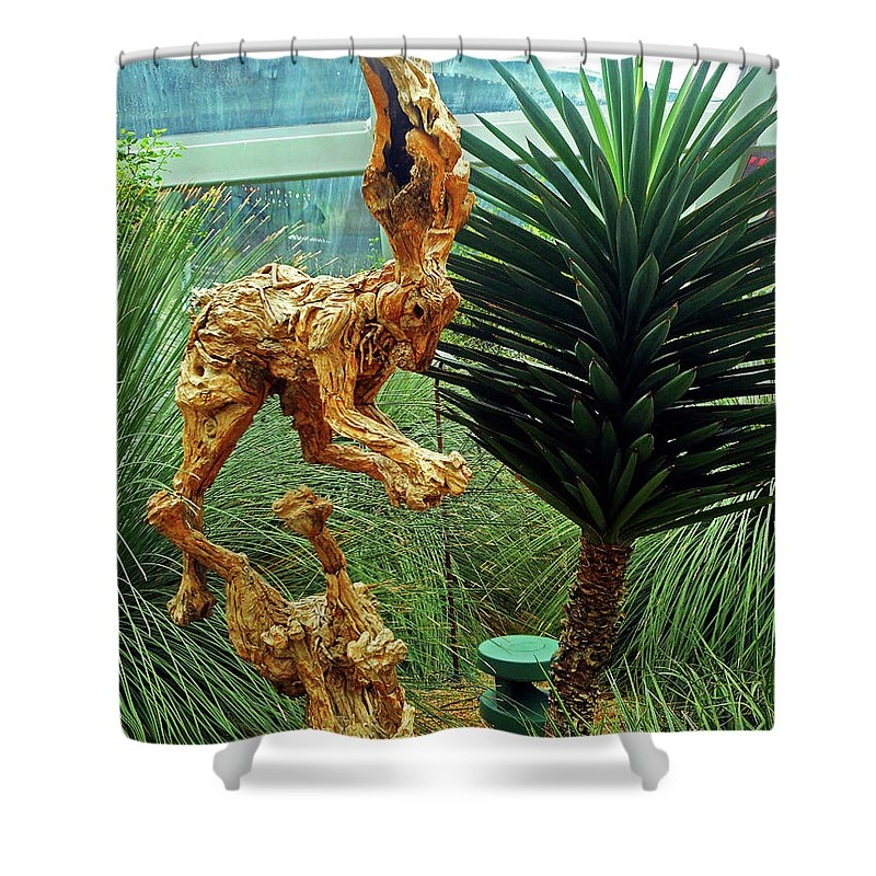 The Dooms Shower Curtain featuring the photograph Flower Dome 8 by Ron Kandt