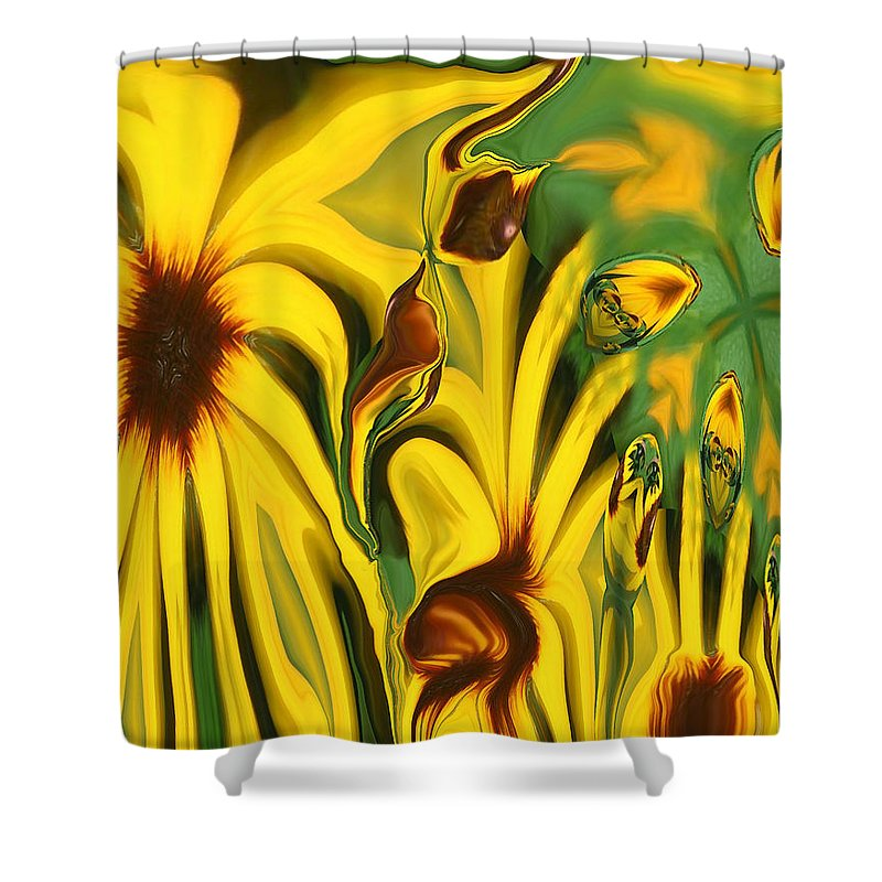 Abstract Shower Curtain featuring the photograph Flower Fun by Linda Sannuti