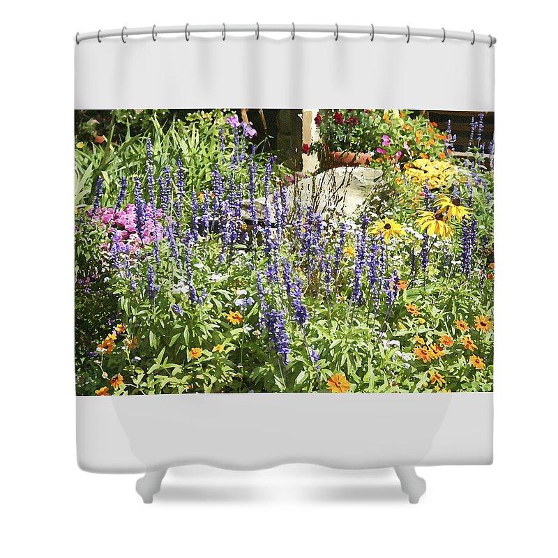 Flower Shower Curtain featuring the photograph Flower Garden by Margie Wildblood