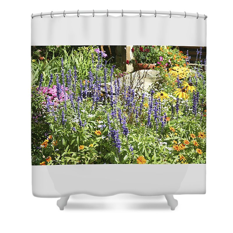 Flower Shower Curtain featuring the photograph Flower Garden by Margie Wildblood
