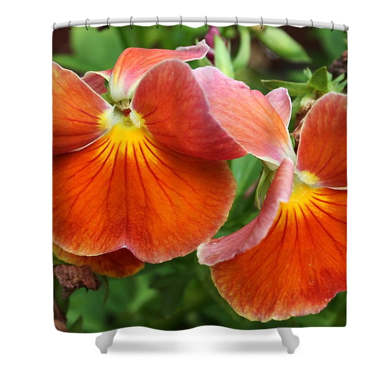 Flowers Shower Curtain featuring the photograph Flower Lips by Linda Sannuti