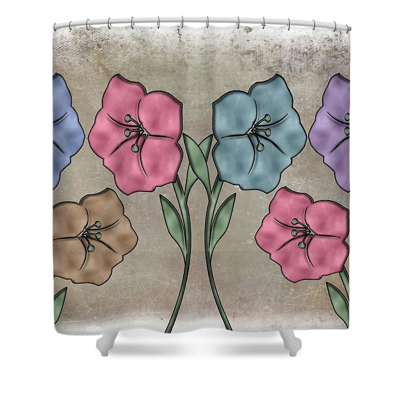Flower Misty Burst Colors Shower Curtain For Sale By Movie Poster Prints