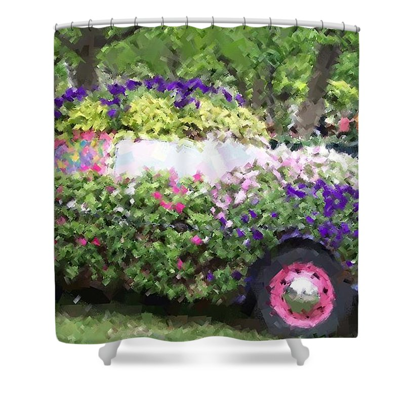 Cars Shower Curtain featuring the photograph Flower Power by Debbi Granruth