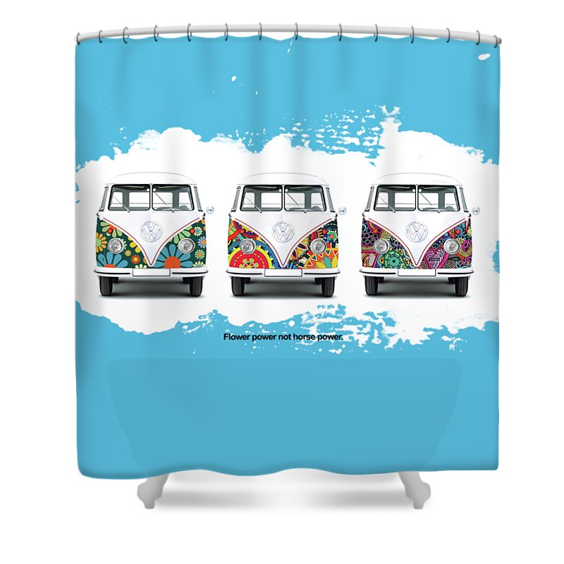 Vw Shower Curtain Featuring The Photograph Flower Power By Mark Rogan
