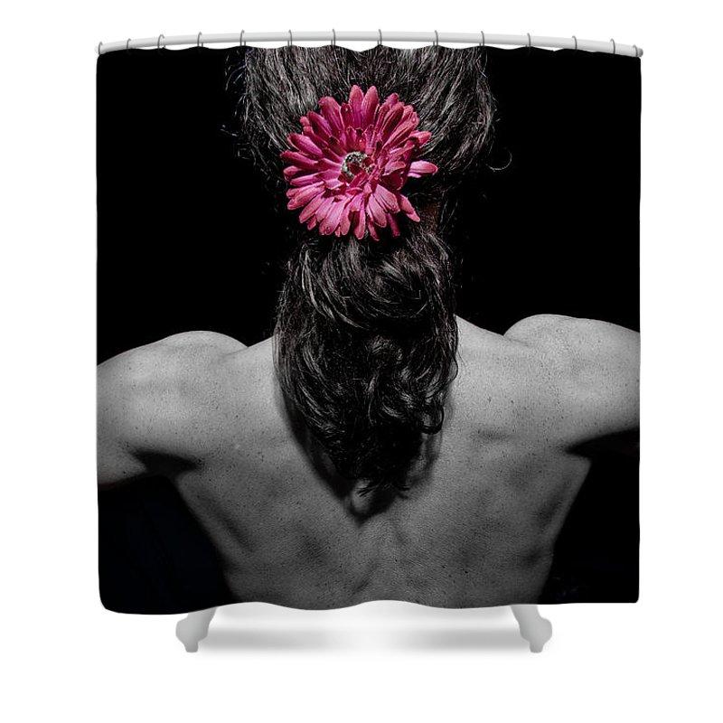 Flower Shower Curtain featuring the photograph Flower by Scott Sawyer