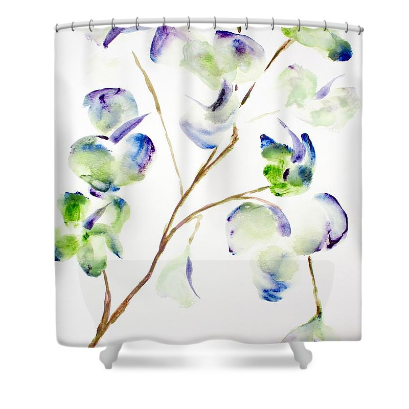 Flower Shower Curtain featuring the painting Flower by Shelley Jones
