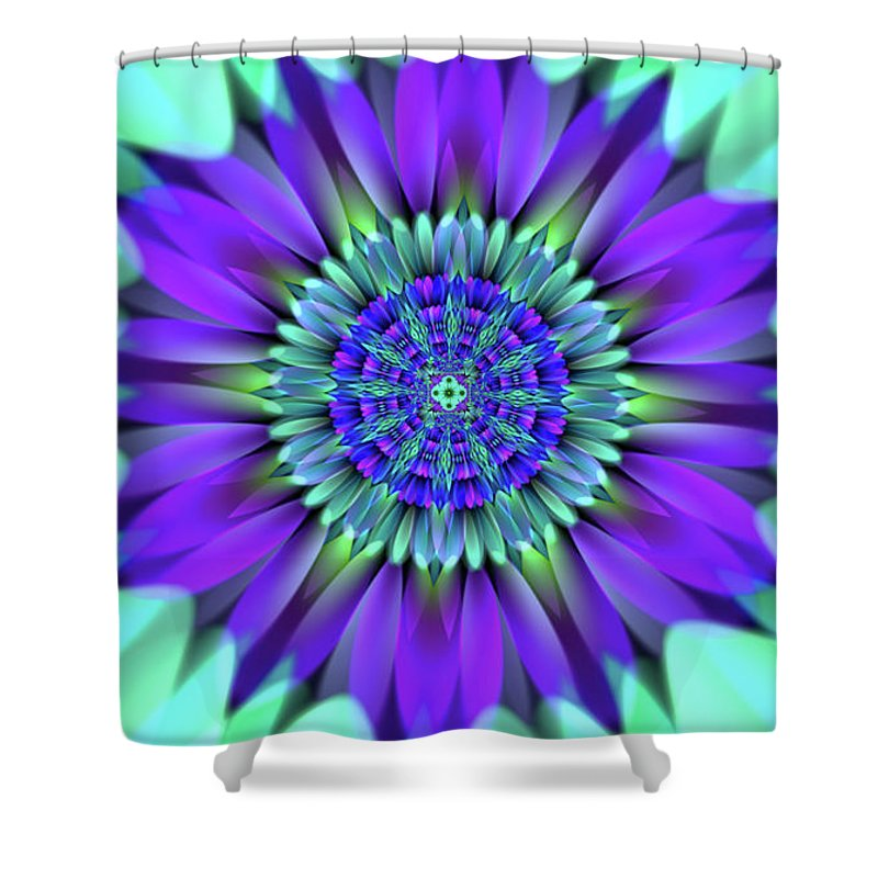 Flower Shower Curtain featuring the digital art Flower Translucent 19 by Emily Colosimo