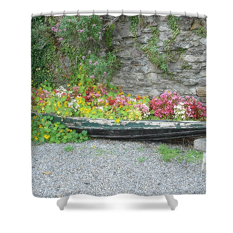 Inistioge Shower Curtain featuring the photograph Flowers Floating by Kelly Mezzapelle