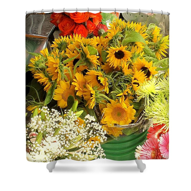 Flowers Shower Curtain featuring the photograph Flowers For Sale by Ian MacDonald