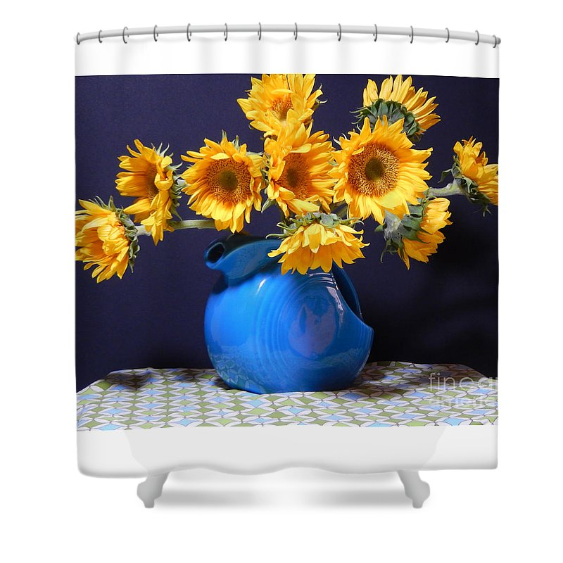 Contemporary Art Shower Curtain featuring the photograph Flowers Of The Sun by Sharon Nelson-Bianco